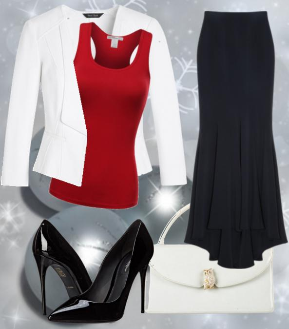 Модная юбка годе