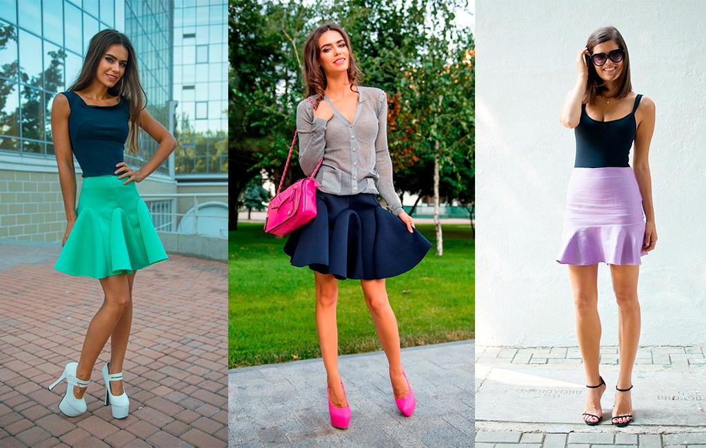 С чем носить юбку-годе - стильное сочетание вещей