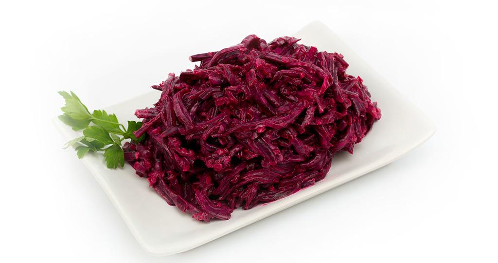 Салат красная свекла с чесноком