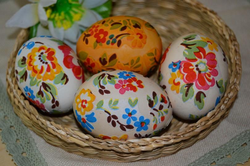 Украшенные яйца