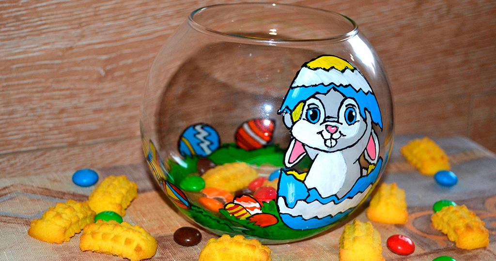 """""""Пасхальный кролик"""" своими руками - украшаем вазу символом Пасхи"""