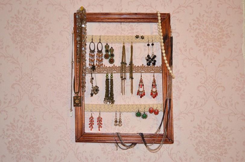 Рамка-органайзер для украшений своими руками