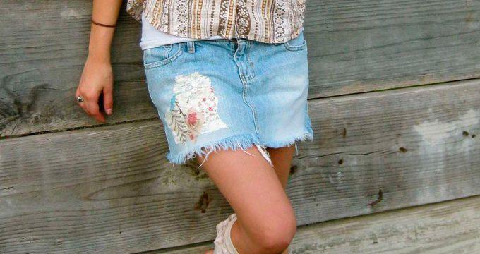 С чем носить джинсовую юбку — стильные аутфиты