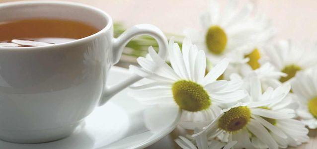 чай с ромашкой зимой