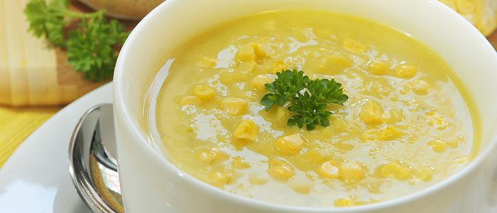 Кукурузный суп из крупы