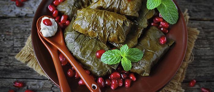 Долма в виноградных листьях по-турецки