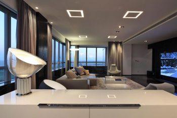 Квартира в стиле хай-тек – дизайн комнат