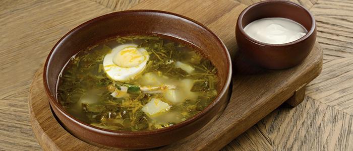 Классический щавелевый суп