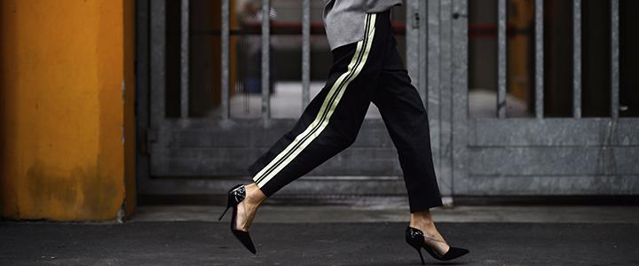Обувь к брюкам-лампасам