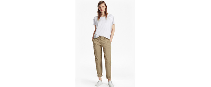 С чем носить укороченные брюки-чинос