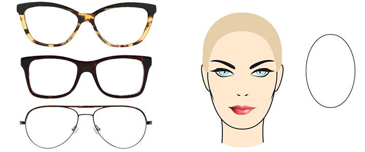 Солнцезащитные очки для овального лица