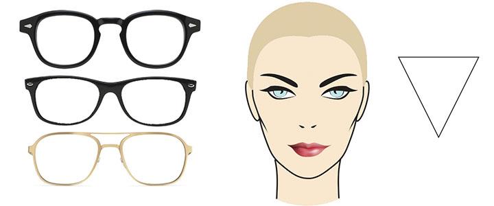 Солнцезащитные очки для сердцевидного лица