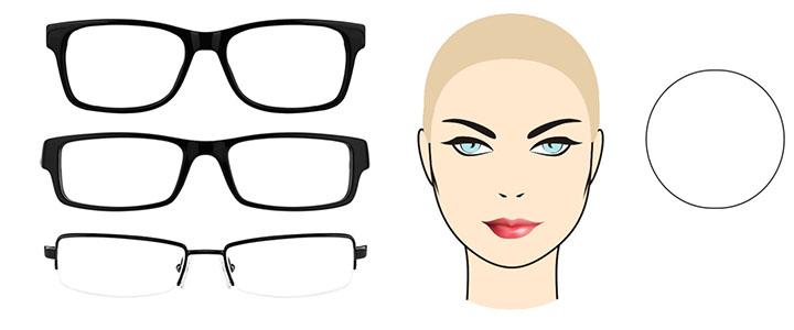 Солнцезащитные очки для круглого лица