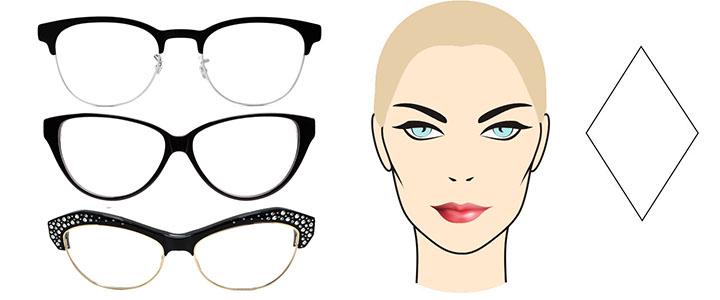 Солнцезащитные очки для ромбовидного лица