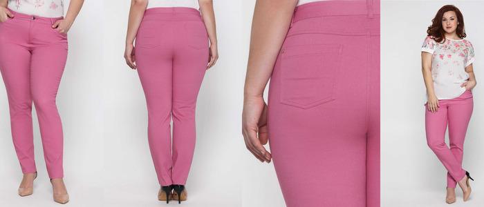 грязно-розовые брюки
