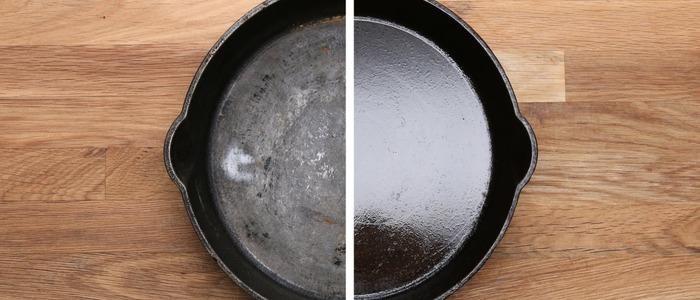 очистить тефлоновую сковороду от нагара