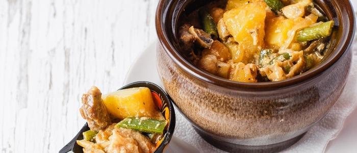 приготовить, жаркое, с овощами, чанахи