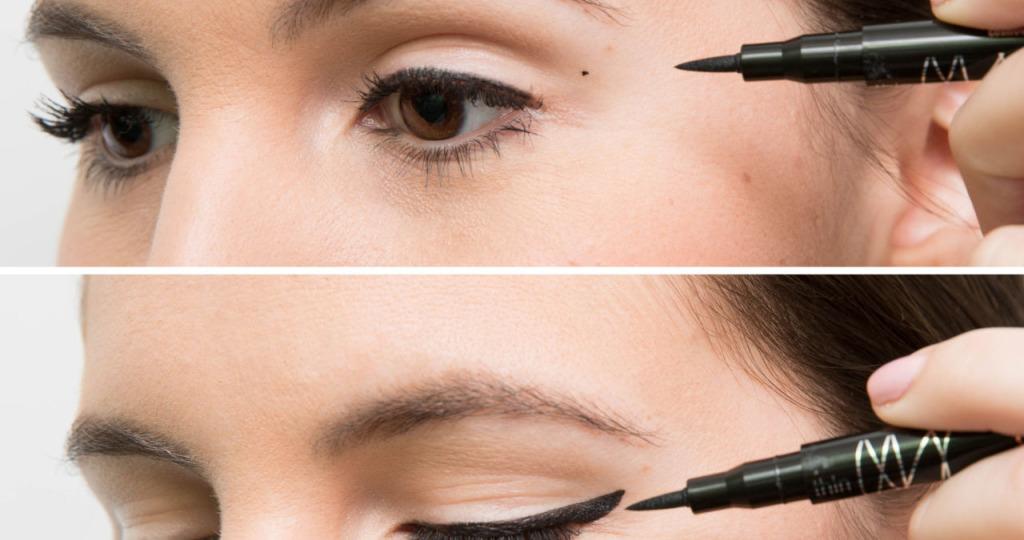 рисовать стрелки на глазах правильно