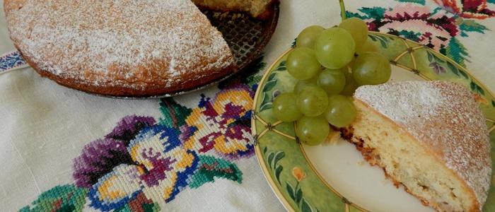 пирог с виноградом в духовке
