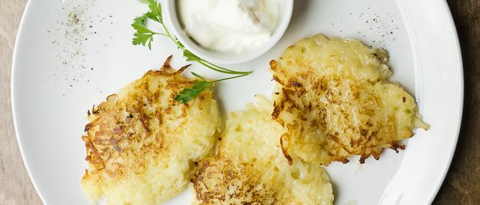 картофельные деруны с фаршем