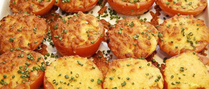 помидоры с сыром и чесноком в духовке
