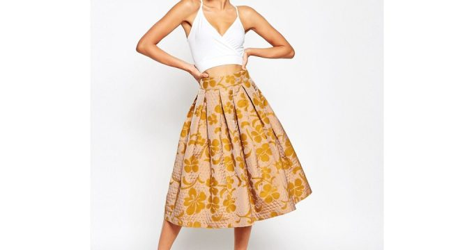 С чем носить юбку-миди