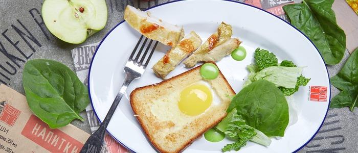 Яичница в белом хлебе