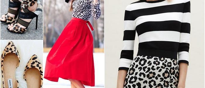 носить леопардовую юбку-карандаш