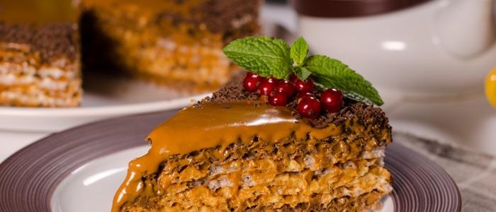 вафельный торт со сгущёнкой и сметаной