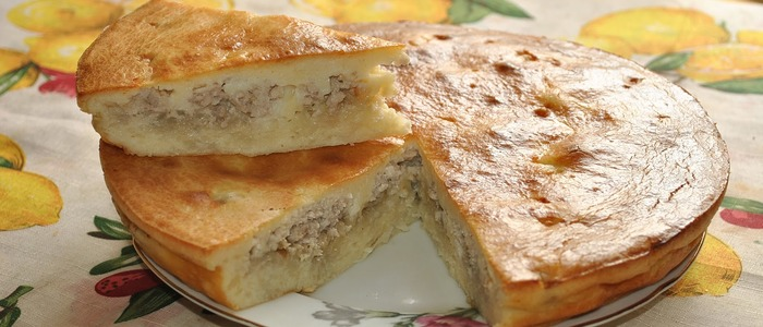заливной пирог с картошкой на майонезе