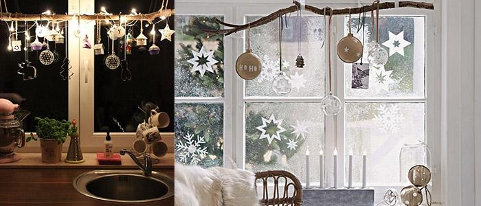 Как украсить окно на Новый год своими руками
