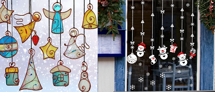 Как украсить окно на Новый год дома