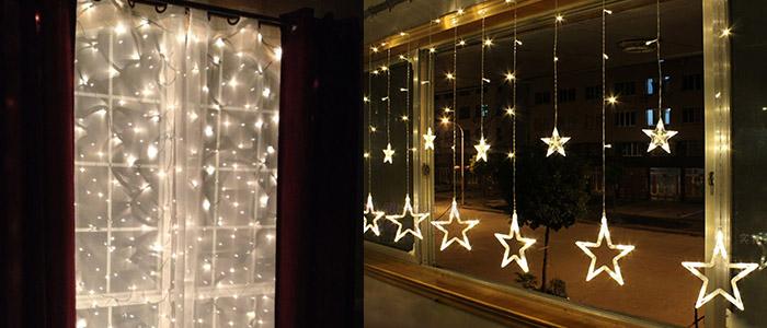 Как украсить окно на Новый год просто