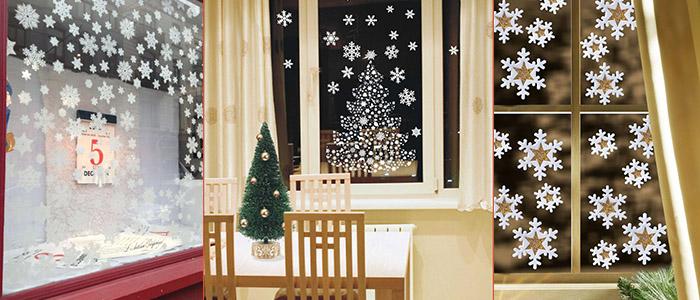 Как украсить окно на Новый год снежинками