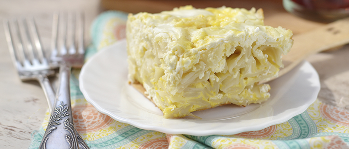 Лапшевник с творогом и сыром