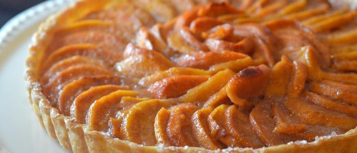пирог с хурмой и яблоками.