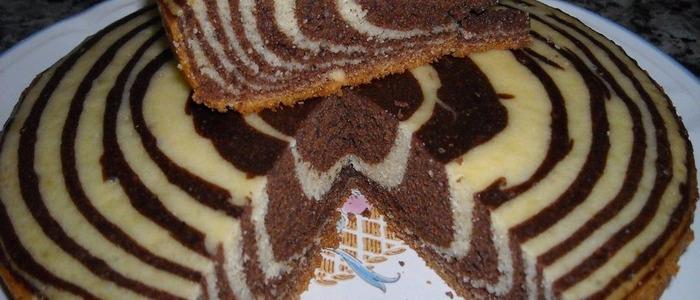 Пирог Зебра на сметане.