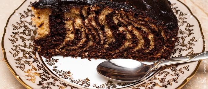 классический пирог зебра.
