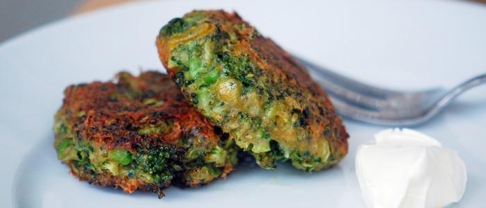диетические оладьи из брокколи