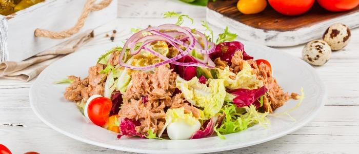 легкий салат на завтрак