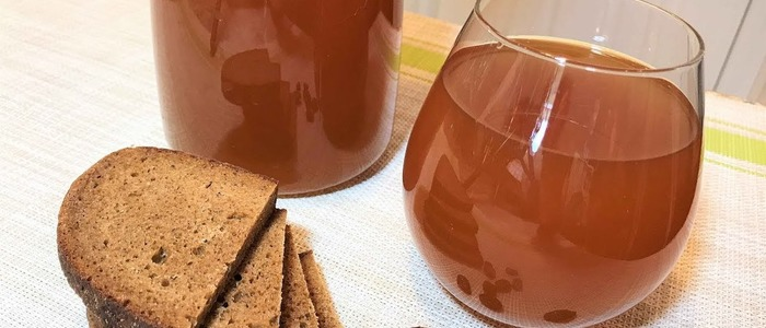 Квас из хлеба без дрожжей