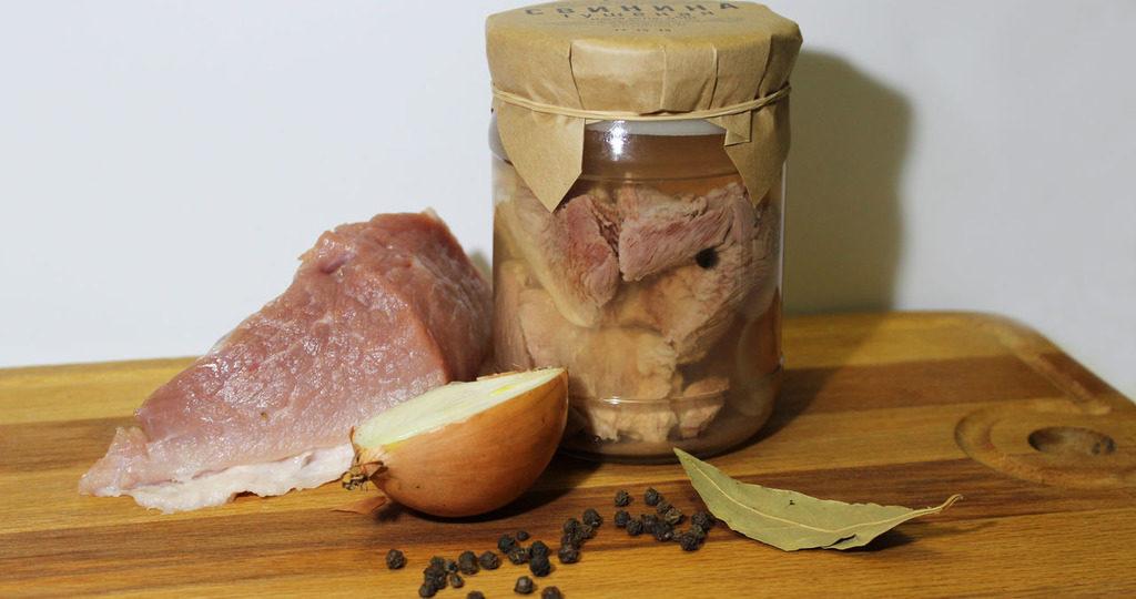 Тушенка из свинины