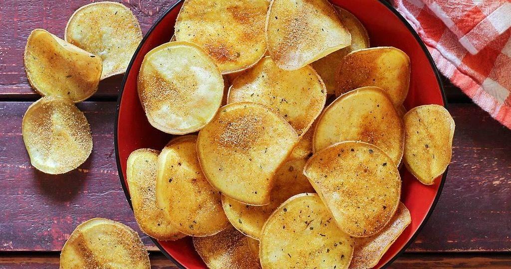 чипсы из картошки в духовке