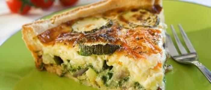 Заливной пирог с кабачками и помидорами - рецепт пошаговый с фото