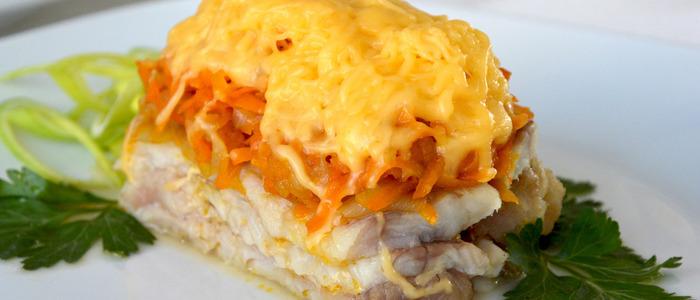 Рыба под картофельной шубой в духовке