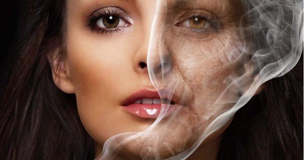 курение влияет на кожу