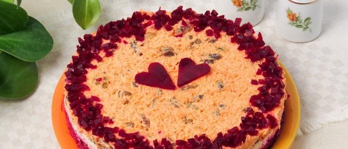 салат любовница с орехами