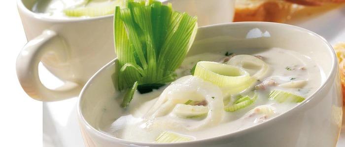 Классический суп из лука-порея