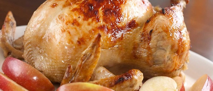 курица с яблоками и рисом