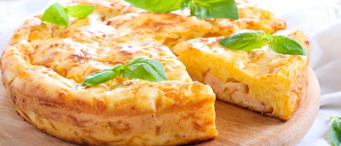 пирог с картошкой и сыром на сковороде